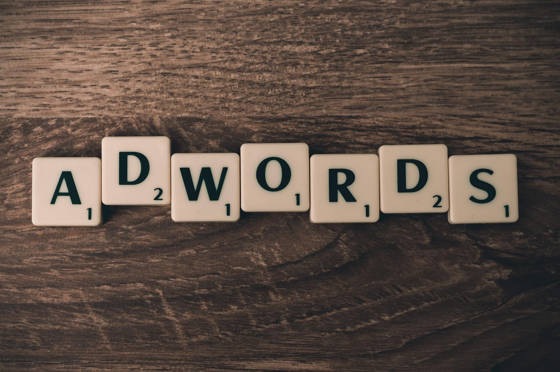 AdWords Google nástro