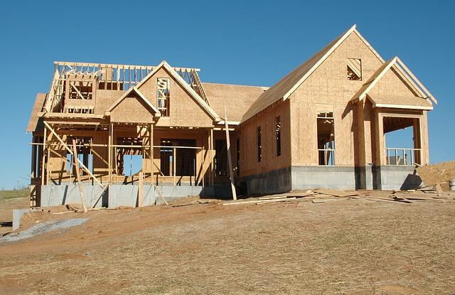 rozestavěný dům, novstavba