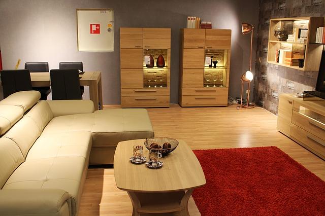 Obývací pokoj-sedací souprava-stolek