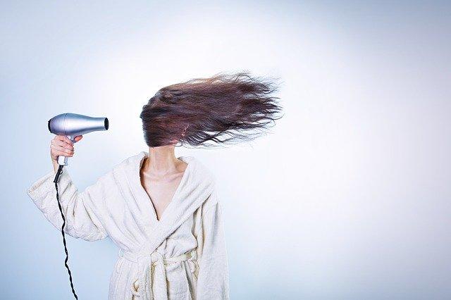 Sušení dlouhých vlasů